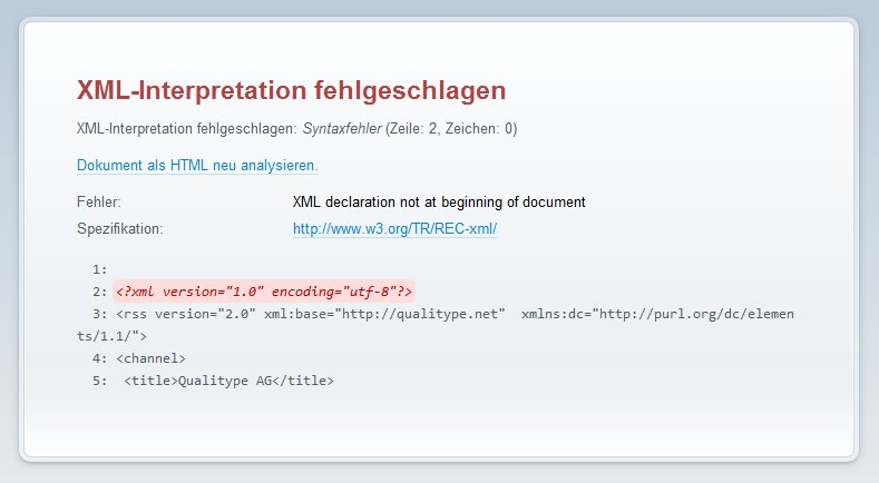 Fehlermeldung Exemplarisch aus Opera 11.61