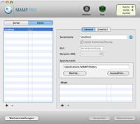 Screenshot von MAMP Pro